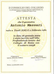 Iscrizione collegio geometri roma