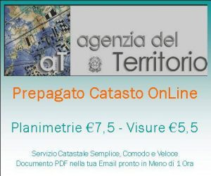 Logo Credito Prepagato Catasto - Abbonamento Servizi OnLine