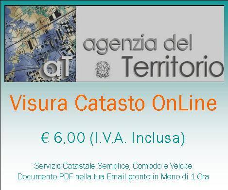 Visura catastale online agenzia del territorio visure for Visura catasto