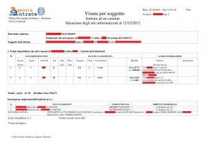 Esempio Visura Catastale OnLine - Che documento ricevo?
