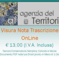 Banner Pubblicitario della Visura Nota Trascrizione Online