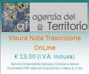 Logo Prezzo Visura Nota Trascrizione Online - Conservatoria Registri Immobiliari