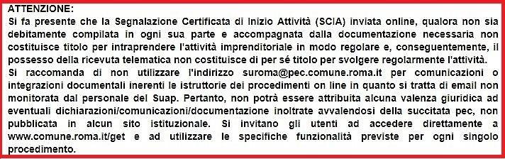 Compilazione SCIA Online Intermediario - Attenzione alle mancanze e agli errori di compilazione SUAP Roma