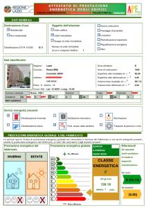 Prima Pagina dei Certificati Energetici